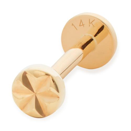 Gold Siren Star Single Labret Earring - Monica Vinader