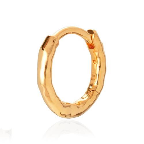 Gold Vermeil Ziggy Single Huggie Earring - Monica Vinader