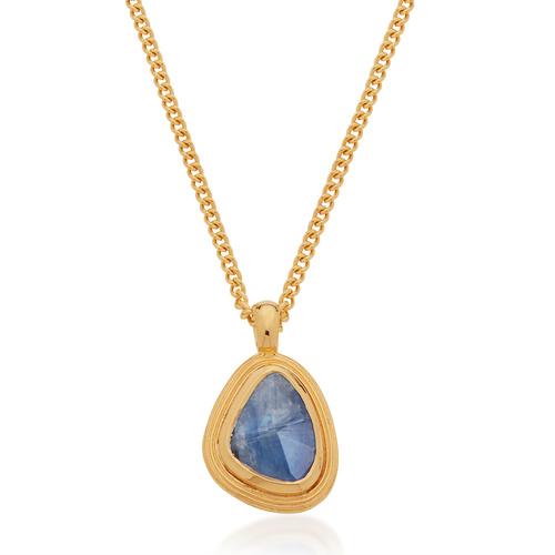 Gold Vermeil Amulet Necklace - Kyanite - Monica Vinader