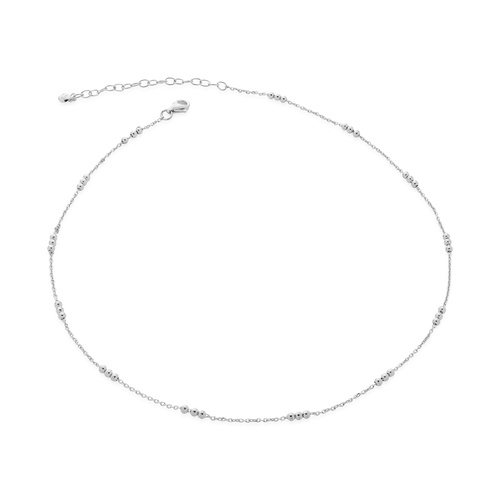 Sterling Silver Triple Beaded Choker Necklace 14-16