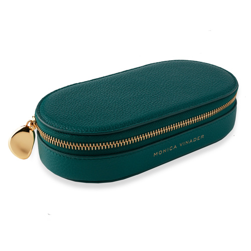 Leather Personalised Leather Oval Trinket Box with dustbag - Monica Vinader