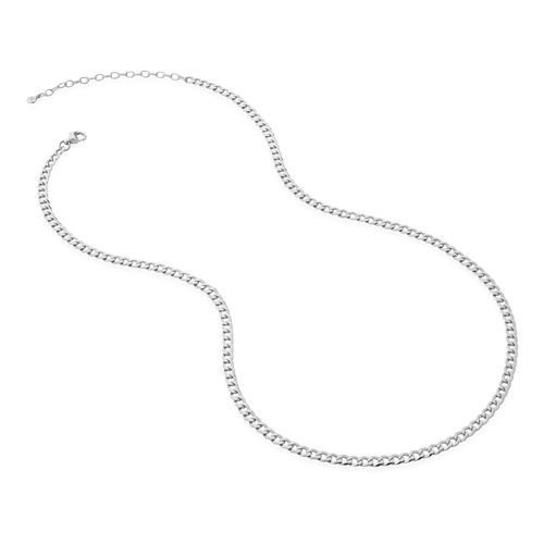 Sterling Silver Flat Curb Chain Necklace - Monica Vinader