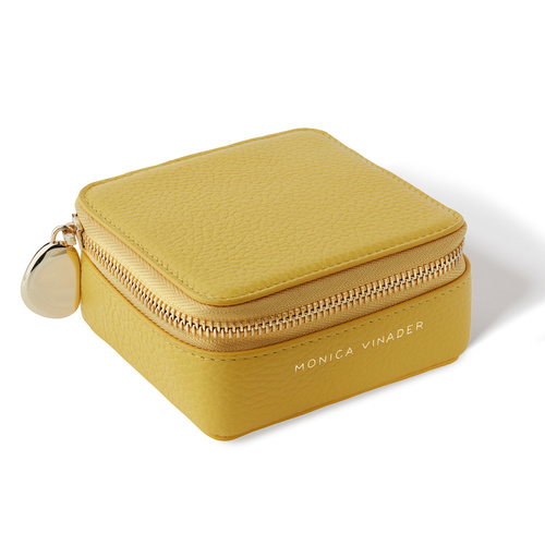 Leather Personalised Leather Travel Box with dust bag  - Yellow - Monica Vinader
