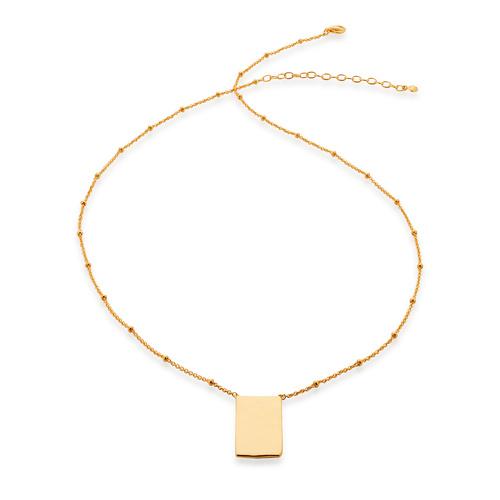 Gold Vermeil Siren Muse ID Necklace - Monica Vinader