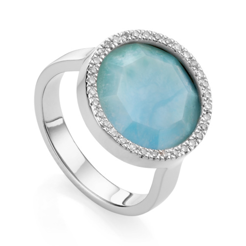 Naida Circle Ring - Larimar - Monica Vinader