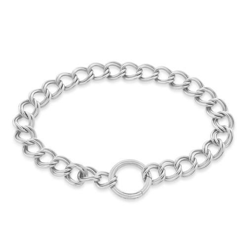 Sterling Silver Groove Curb Chain Bracelet - Monica Vinader