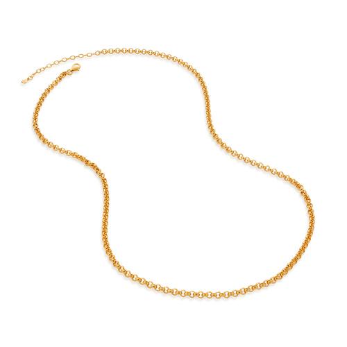 Gold Vermeil Vintage Chain Necklace 20-22