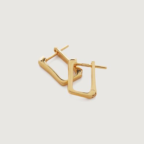 Gold Vermeil Alta Huggie Earrings - Monica Vinader