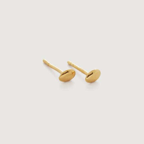 Gold Vermeil Nura Mini Nugget Stud Earrings - Monica Vinader