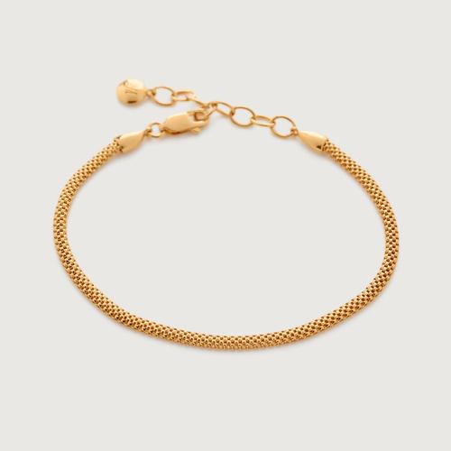 Gold Vermeil Doina Fine Chain Bracelet - Monica Vinader