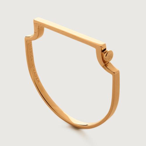 Gold Vermeil Signature Thin Bangle - Monica Vinader