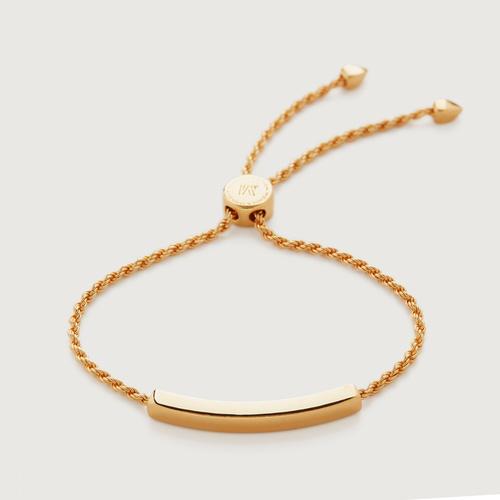Gold Vermeil Linear Chain Bracelet - Monica Vinader
