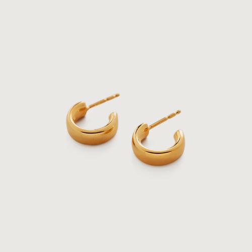 Gold Vermeil Fiji Mini Hoop Earrings - Monica Vinader