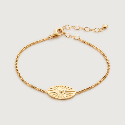 Gold Vermeil Talisman Heart Bracelet - Monica Vinader