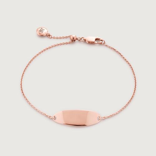Rose Gold Vermeil Nura Tiny Fine Chain Bracelet -  - Monica Vinader