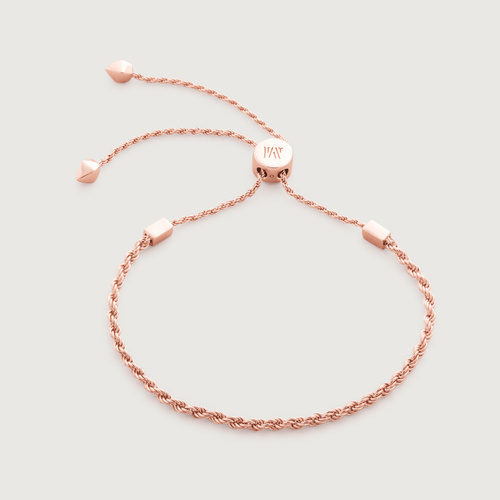 Rose Gold Vermeil Corda Fine Chain Friendship Bracelet  - Monica Vinader