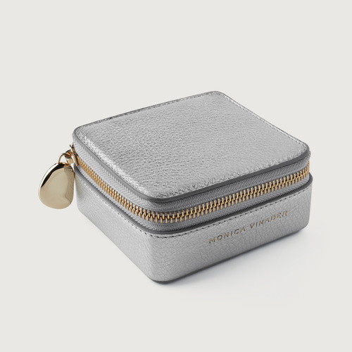 Leather Leather Jewellery Box - Silver - Monica Vinader