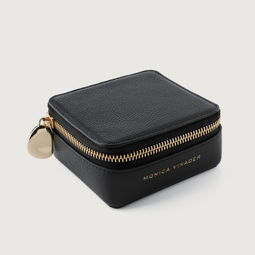 Leather Leather Jewellery Box - Black - Monica Vinader