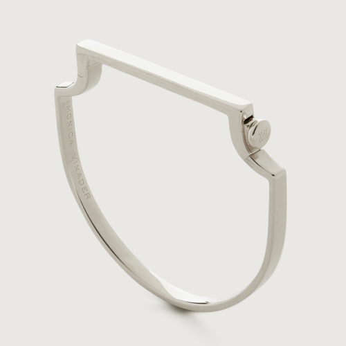 Sterling Silver Signature Thin Bangle - Sterling Silver Signature Thin Bangle - Monica Vinader