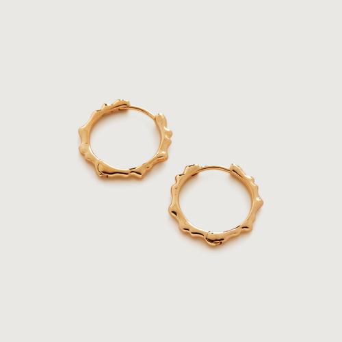 Gold Vermeil Siren Muse Small Hoop Earrings - Gold Vermeil Siren Muse Small Hoop Earrings - Monica Vinader