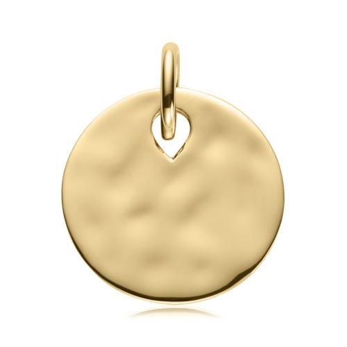 Gold Vermeil Ziggy Round Pendant Charm - Monica Vinader