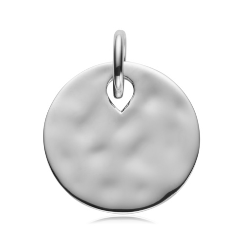 Sterling Silver Ziggy Round Pendant Charm - Monica Vinader