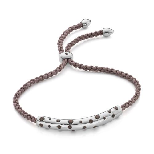 Esencia Scatter Friendship Bracelet - Smoky Quartz - Monica Vinader
