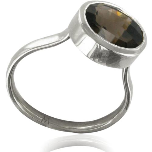 Candy Oval Ring - Smoky Quartz - Monica Vinader