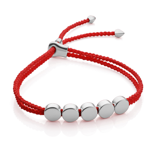 Linear Bead Friendship Bracelet - Coral - Monica Vinader