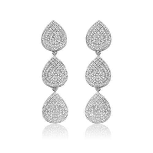 Alma Cocktail Earrings - Diamond - Monica Vinader