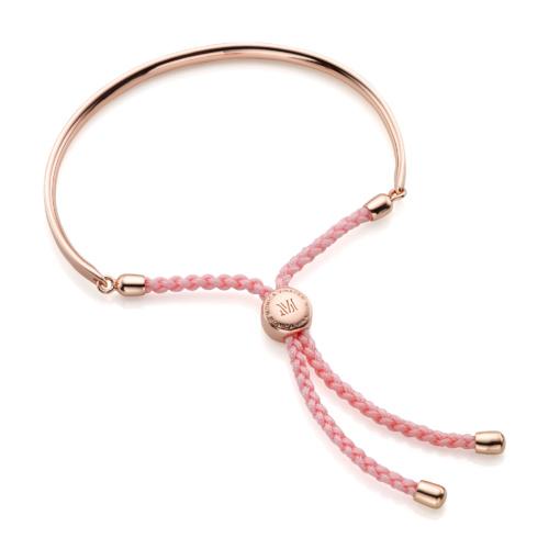 Rose Gold Vermeil Fiji Friendship Petite Bracelet - Ballet Pink - Monica Vinader