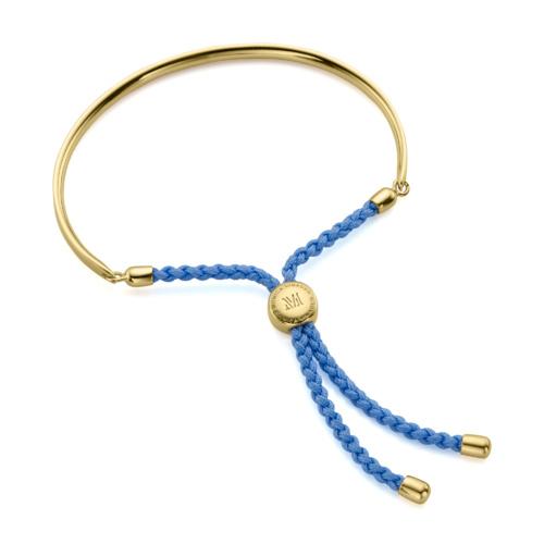 Gold Vermeil Fiji Friendship Petite Bracelet - Powder Blue - Monica Vinader