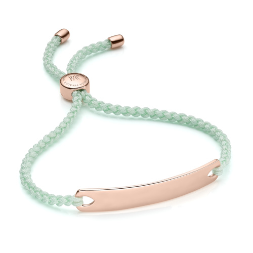 Rose Gold Vermeil Havana Friendship Bracelet - Mint - Monica Vinader