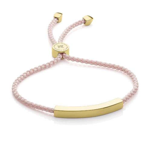 Gold Vermeil Linear Friendship Bracelet - Ballet Pink - Monica Vinader