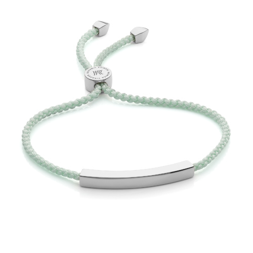 Linear Friendship Bracelet - Mint - Monica Vinader
