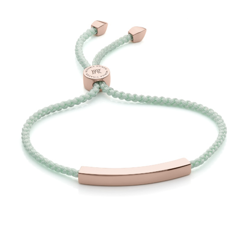 Rose Gold Vermeil Linear Friendship Bracelet - Mint - Monica Vinader
