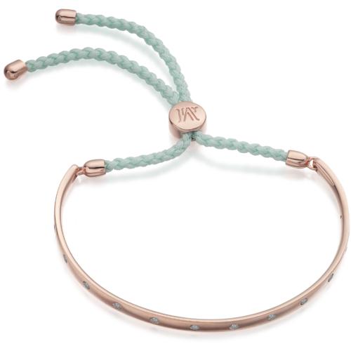 Rose Gold Vermeil Fiji Gem Bracelet - Pale Blue - Creativity - Monica Vinader