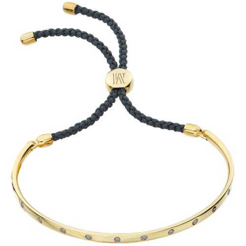 Gold Vermeil Fiji Gem Bracelet - Grey - Creativity - Monica Vinader
