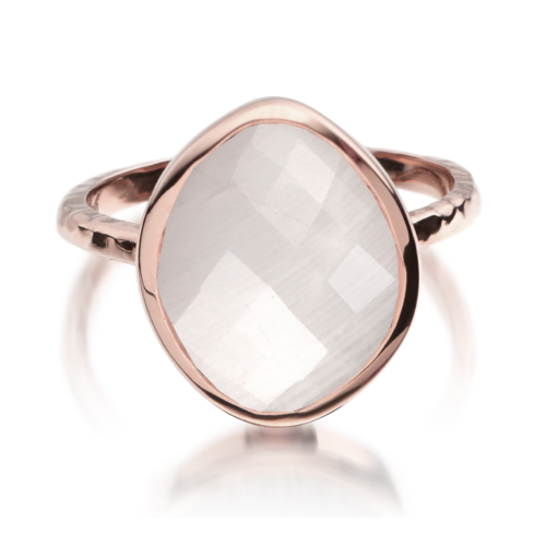 Gold Vermeil Nugget Ring - Small - Moonstone - Monica Vinader
