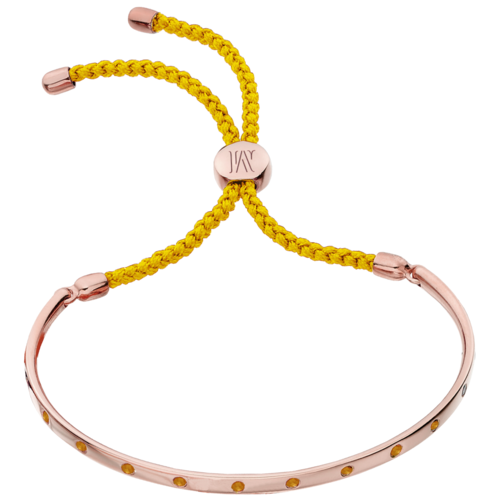 Rose Gold Vermeil Fiji Gem Bracelet - Orange - Joy - Monica Vinader