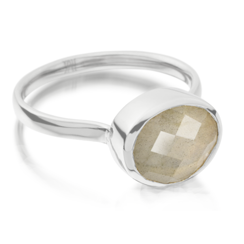 Candy Oval Ring - Labradorite - Monica Vinader
