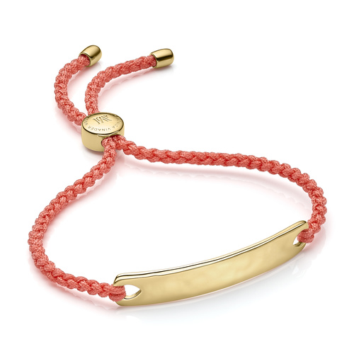 Gold Vermeil Havana Friendship Bracelet - Peach - Monica Vinader