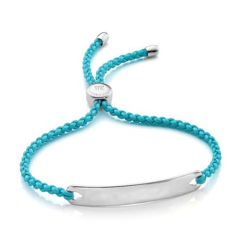 Sterling Silver Havana Friendship Bracelet - Turquoise - Monica Vinader