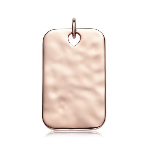 Rose Gold Vermeil Havana Large ID Pendant - Monica Vinader