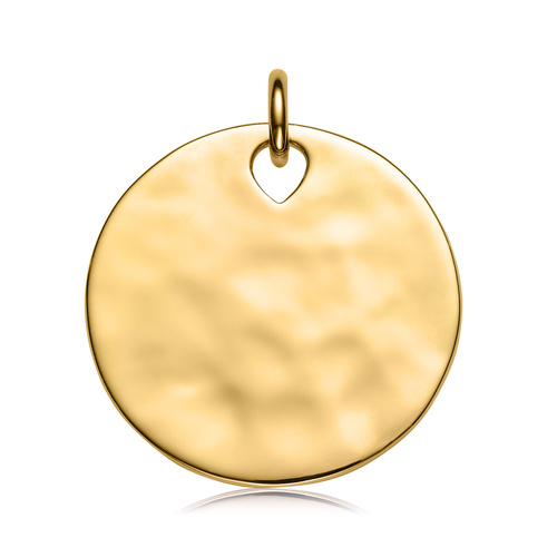 Gold Vermeil Havana Large Round Pendant Charm - Monica Vinader