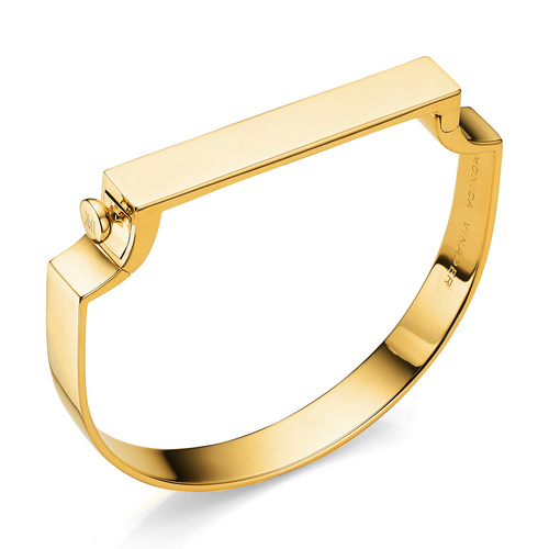 Gold Vermeil Signature Bangle - Monica Vinader