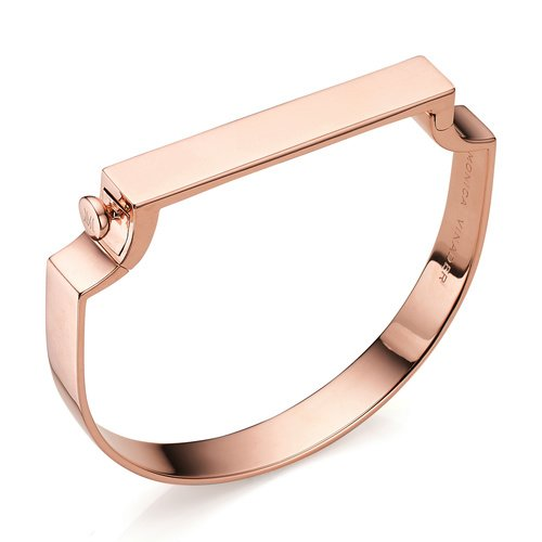 Rose Gold Vermeil Signature Bangle Monica Vinader