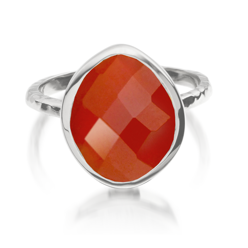 Nugget Ring - Small - Carnelian - Monica Vinader