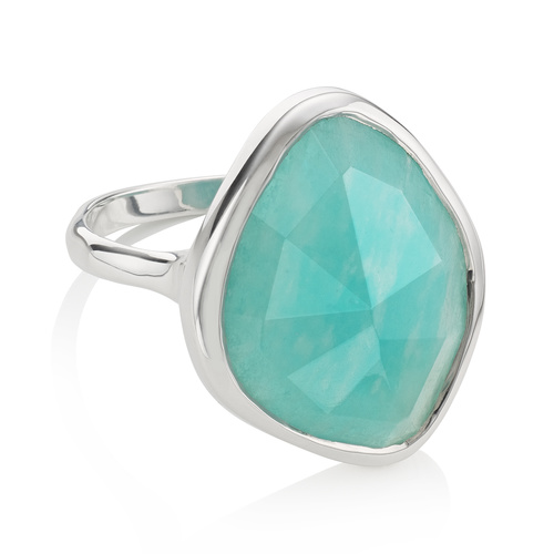 Siren Nugget Ring - Amazonite - Monica Vinader