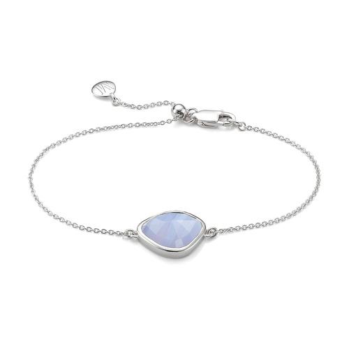 Siren Nugget Bracelet - Blue Lace Agate - Monica Vinader
